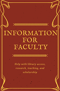 Help with Library access, research, teaching, and scholarship support.
